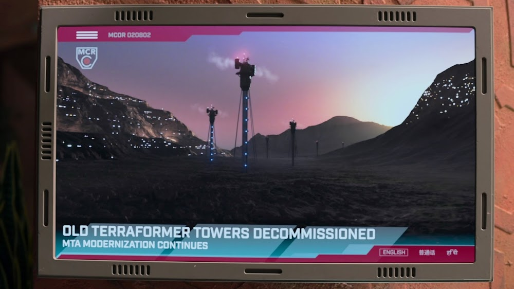 Decommissioning old terraformer towers on Mars in Season 4 of The Expanse