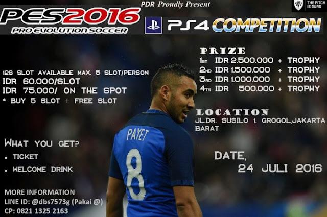 Kompetisi PES 2016 di Jakarta Juli 2016