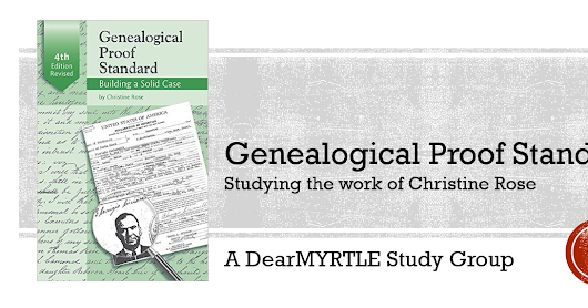 ANNOUNCING: Genealogical Proof Standard Study Group (2017)