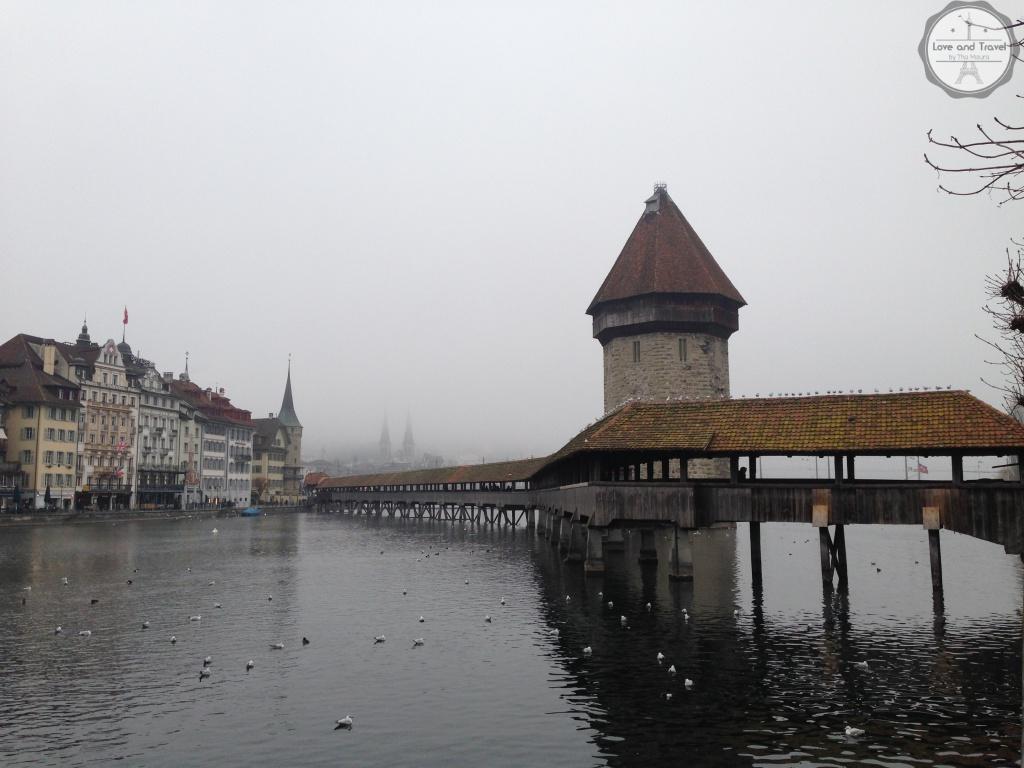 Ponte da Capela (Kapellbüche) Lucerna-roteiro Suíça  8 dias