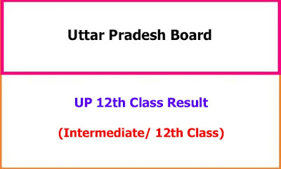 UP 12th Class Exam Results