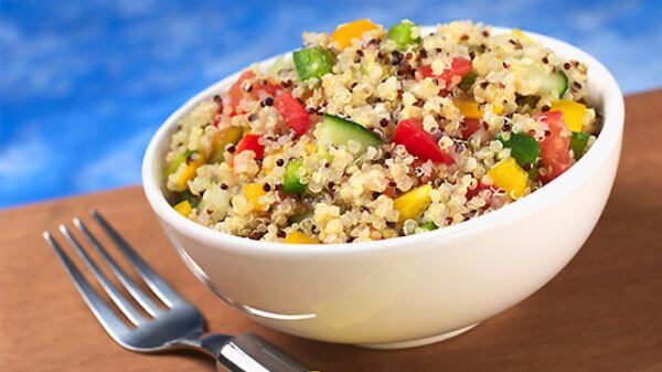 White Bowl of the Mediterranean Quinoa Salad