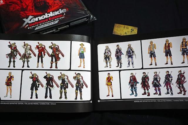 DSC01936 - 異域神劍 異度神劍 終極版 遊戲限定版畫集  ゼノブレイド ディフィニティブ・エディション / Xenoblade Definitive Edition / Xenoblade Chronicles: Definitive Edition
