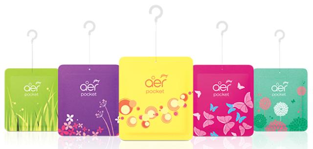 Godrej aer Pocket, Bathroom Air Fragrance - Assorted Pack of 5
