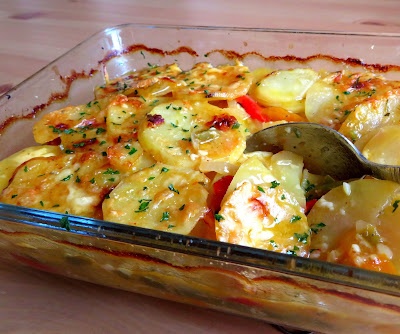 Jalapeno & Cheese Potato Bake