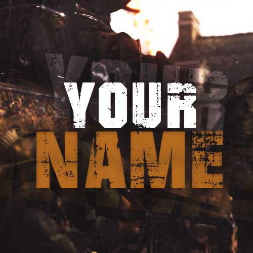 Free Call Of Duty 2 YouTube Banner And Logo PSD