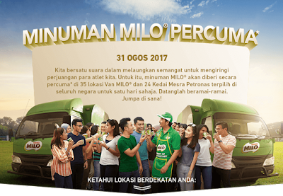 Petronas Kedai Mesra Free Nestle Milo Drink Giveaway