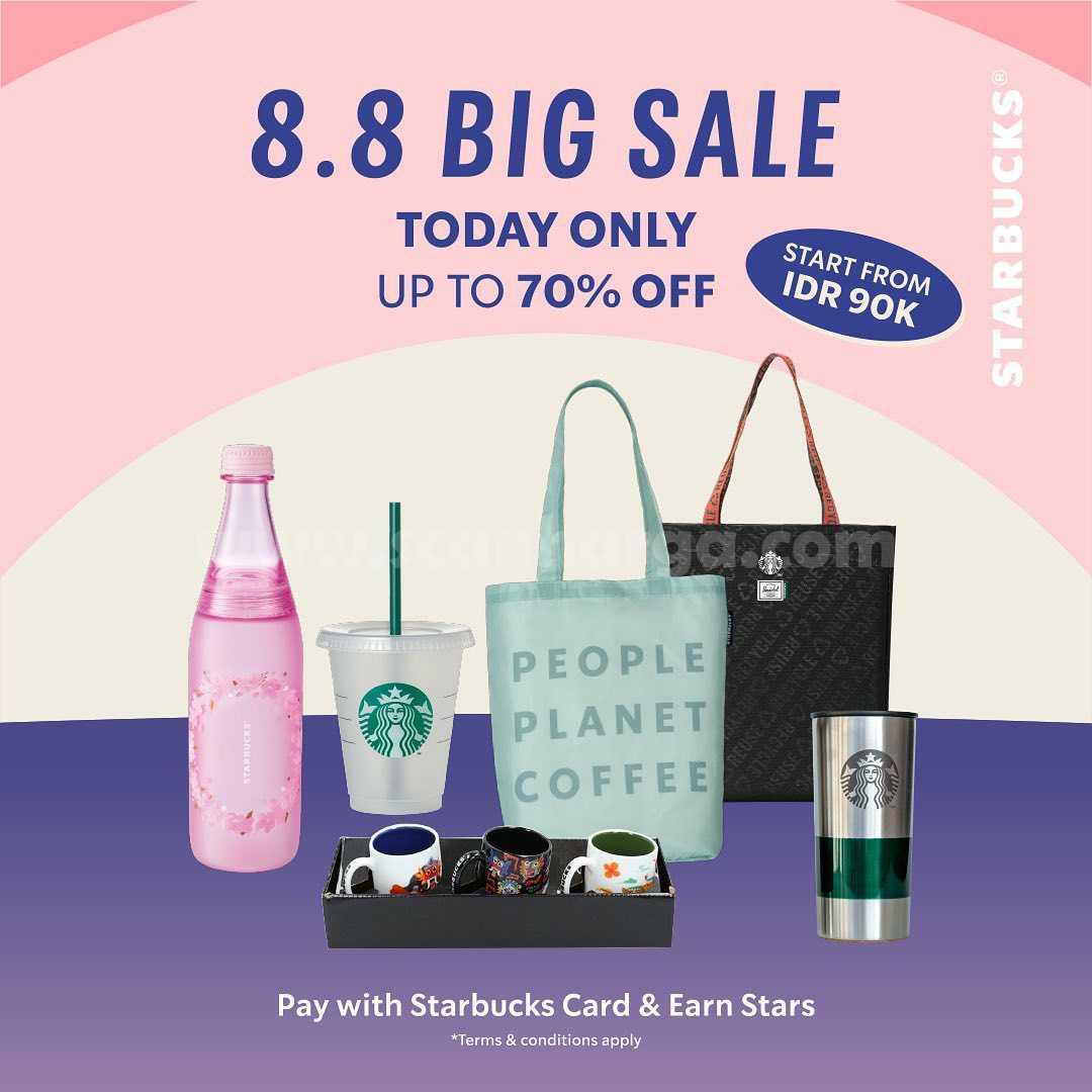 Promo Starbucks Merchandise 8.8 Sale Diskon 70%