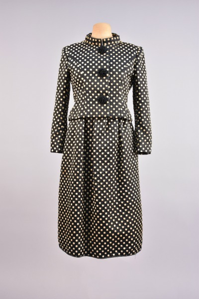 Norman Norell Polka Dot Suit Dress