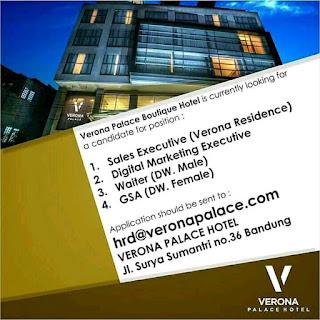 Loker Lowongan Kerja Verona Palace Hotel Bandung 2019