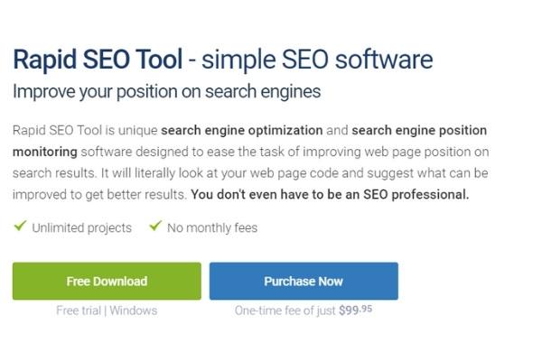 Rapid seo tool price