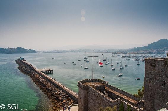 Vista desde el castillo de Monterreal. Baiona