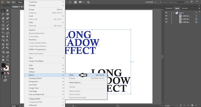Long Shadow Effect in Adobe Illustrator