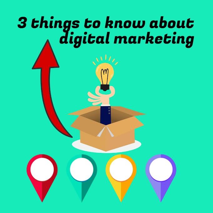 The 3 step to start digital marketing