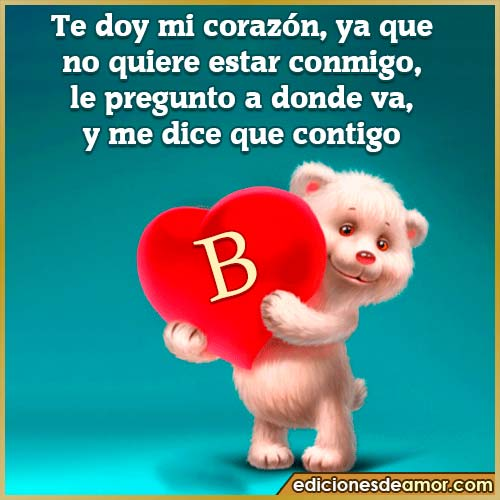 te doy mi corazón B