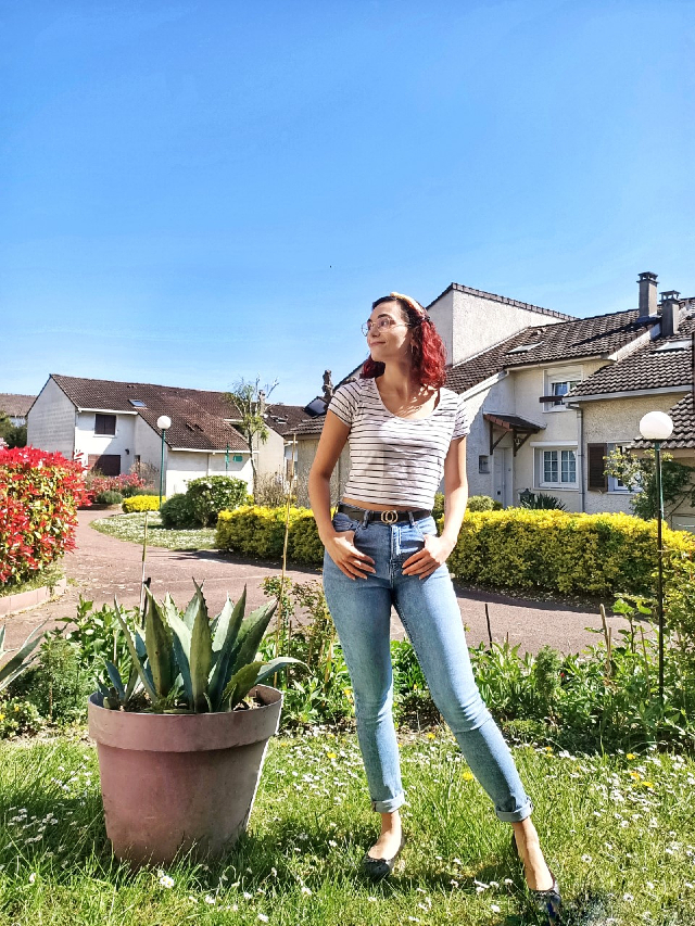 My favourite jeans for spring in the garden
