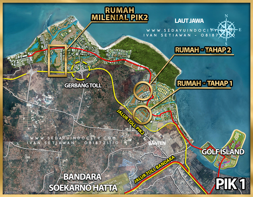 Lokasi Rumah Milenial PIK 2