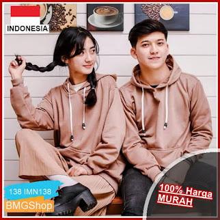 IMN138 Sweater Natural Hoodie wanita Unisex BMGShop