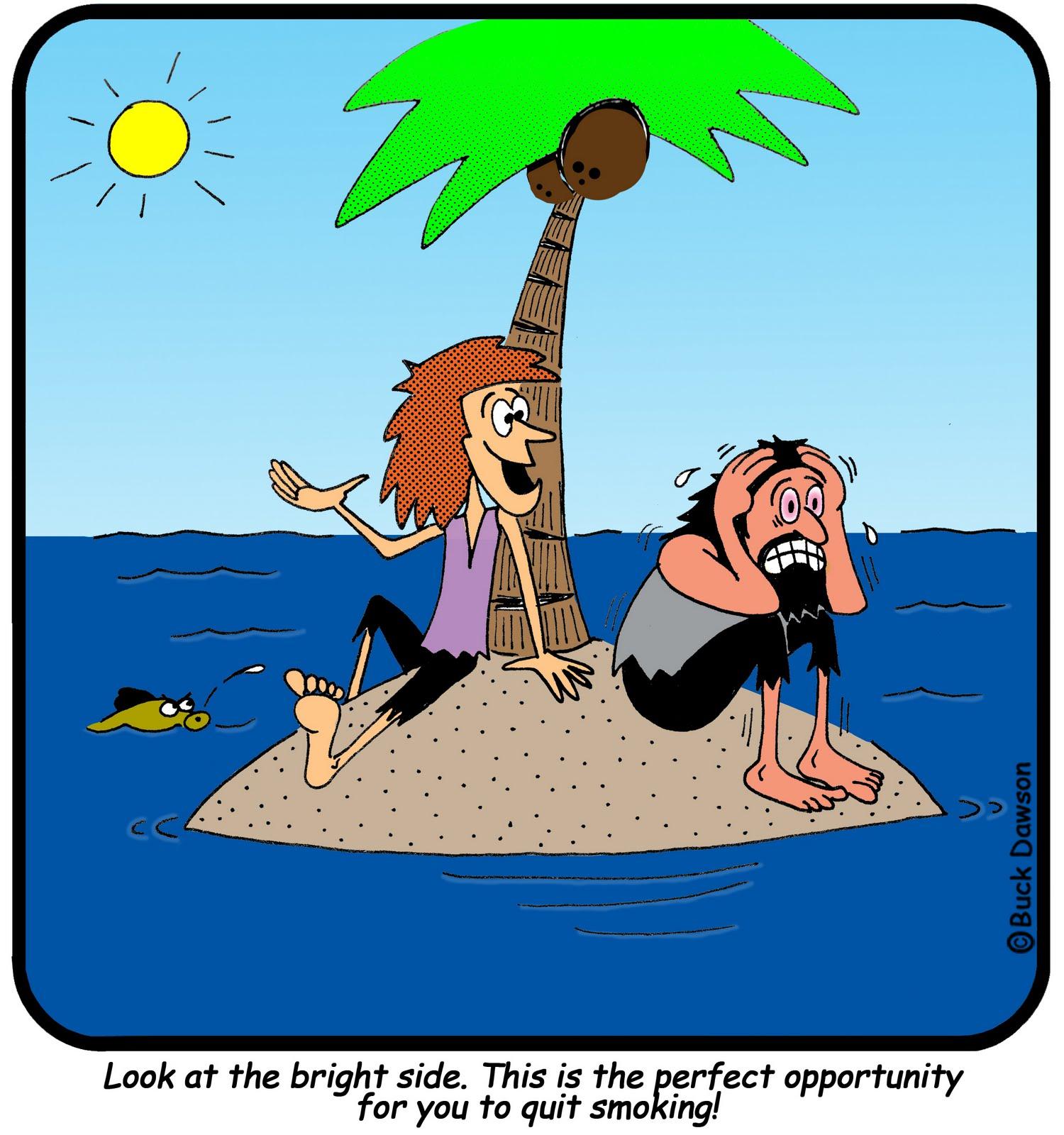 смешные картинки на необитаемом острове хочется поделиться
