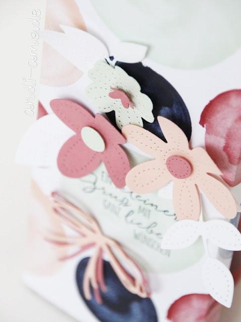 Stampin Up Stanzformen Perforierte Blumen geschichtet