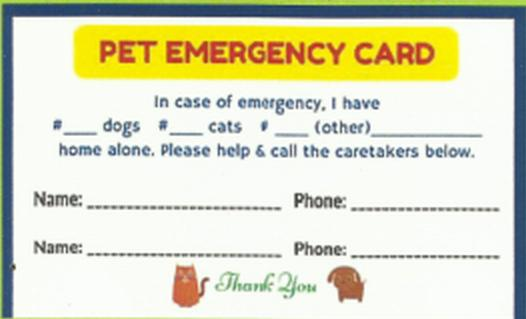 Family Preparedness: Pet Emergency Cards - FluTrackers News and ...