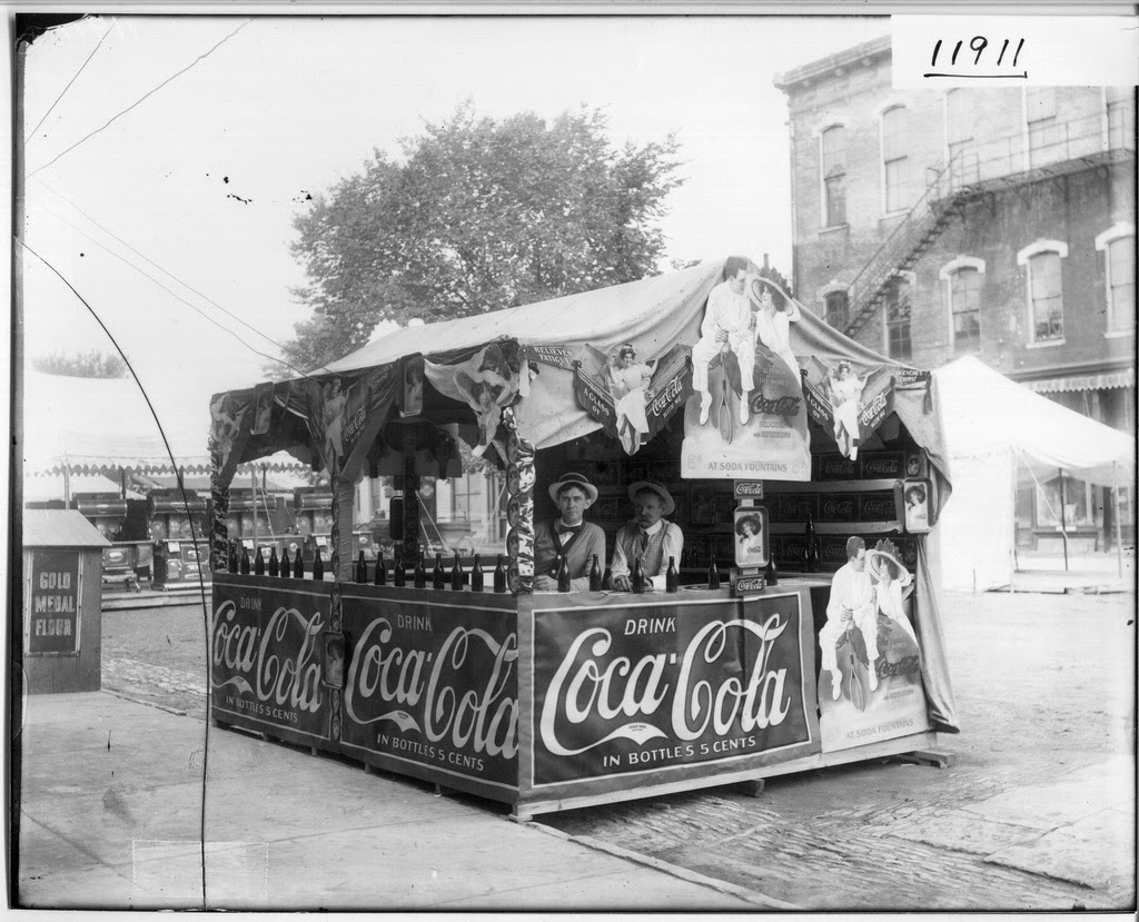 living room miami swivel chairs for coca-cola booth at oxford street fair, ohio, 1912 ...