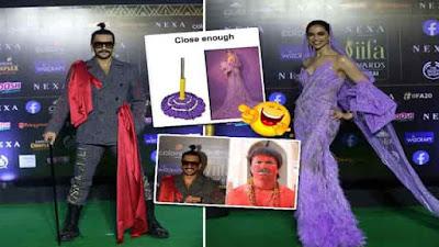 Deepika And Ranveer Singh Iifa 2019 Awards Looks Memes Viral