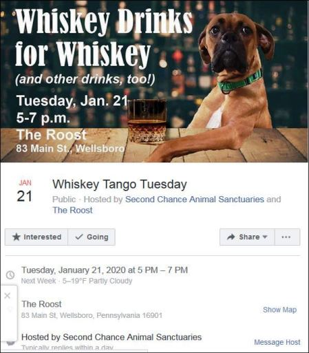 1-21 Benefit for Second Chance Animal SanctuAary