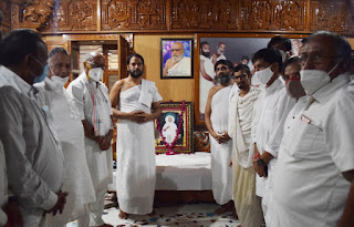 राज्यसभा सांसद श्री दिग्गविजयसिंह ने आचार्यश्री ऋशभचन्द्रसूरिजी म.सा. को भावांजलि अर्पित की