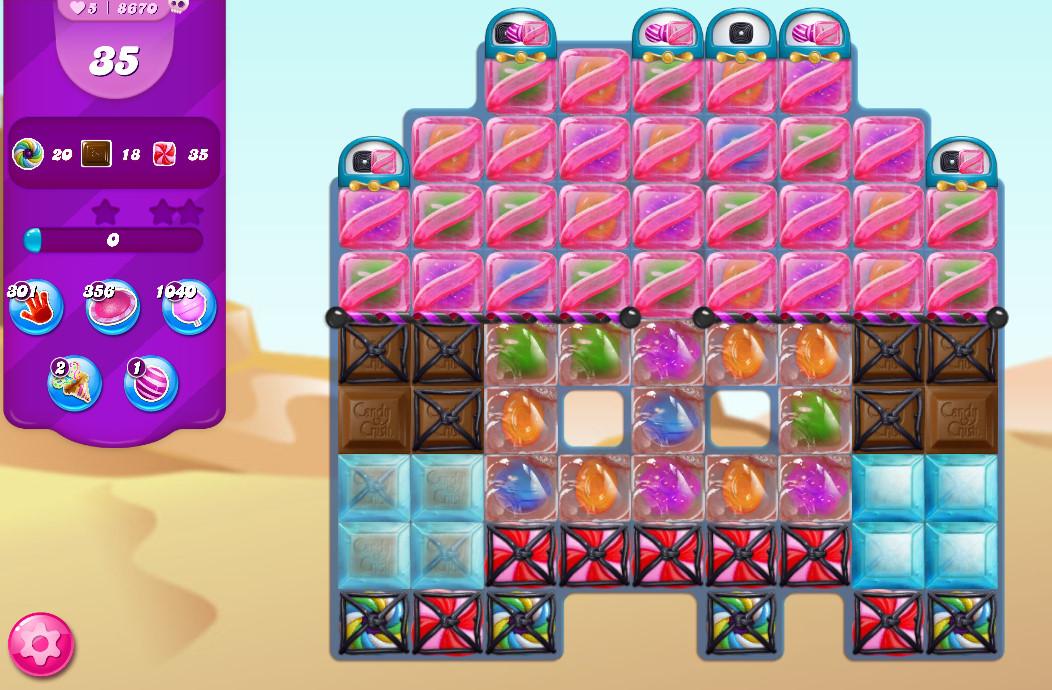 Candy Crush Saga level 8670