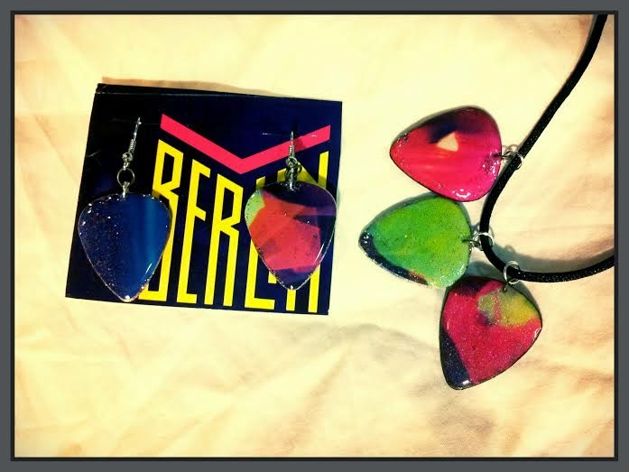 Berlin 'Count Three & Pray' Guitar Pick Jewelry