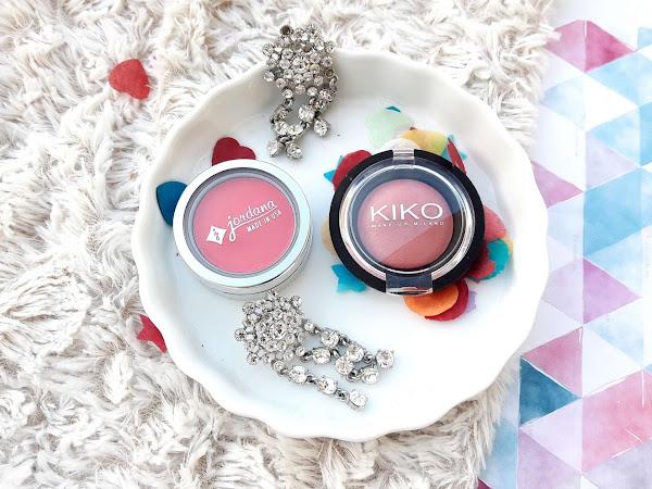 Two blushes - Jordana Apple Cheeks & Kiko Colour Veil Blush 06