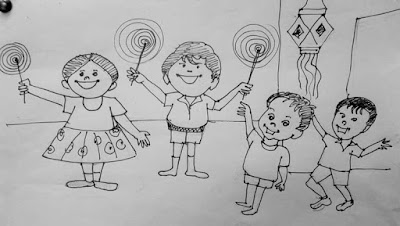 Diwali 2018 Drawings, Paintings & Sketches for Kids and Students