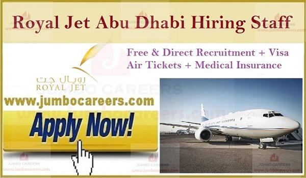 Royal Jet Abu Dhabi Free recruitment, UAE latest job openings,