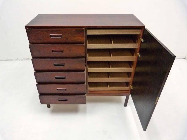 Arne Wahl Iversen Danish Rosewood Dresser Vinde Mobelfabrik 2
