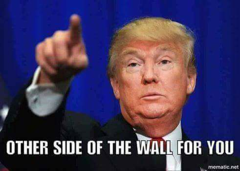 #wall, #pointingatyou, #DonaldTrump, - Other Side of The wall for you.