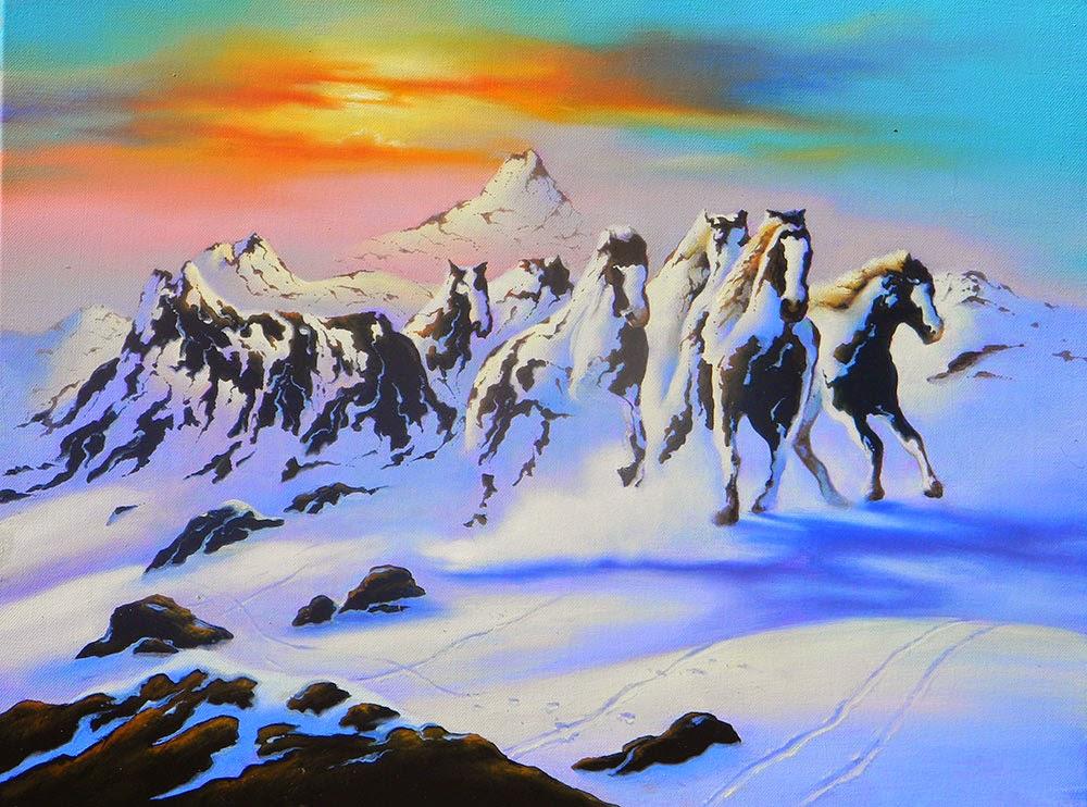 Hidden 3d Illusion Wallpapers Jim Warren S Avalanches Of Horses Illicit Blag