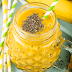 Shake with pineapple and chia seeds for losing weight