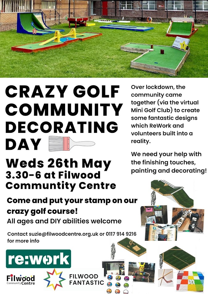 Filwood Fantastic Mini Golf Community Decorating Day poster