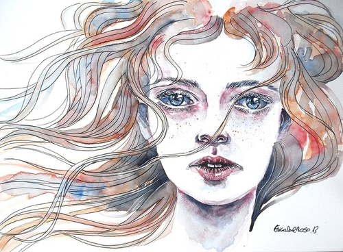 22-Waiting-Erica-Dal-Maso-Expressing-Emotions-Through-Watercolor-Paintings-www-designstack-co