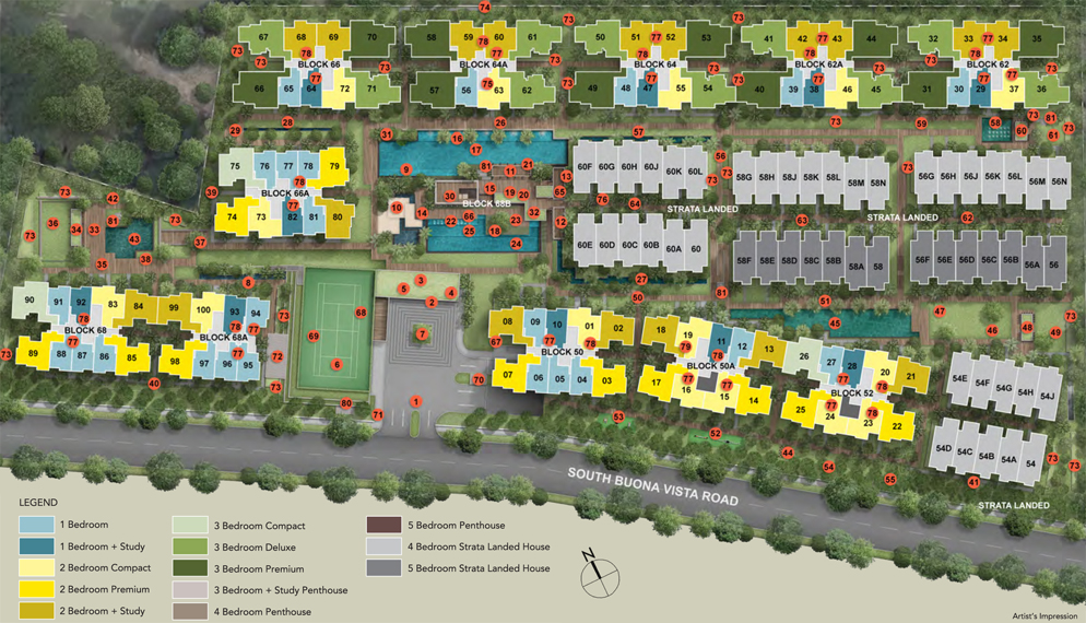Kent Ridge Residences Site Plan