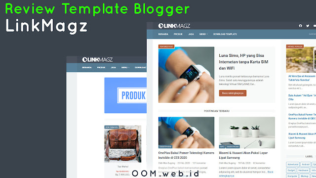 Review Template Blogger LinkMagz