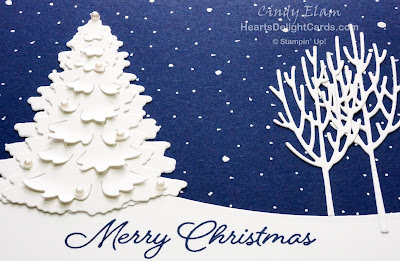 Heart's Delight Cards, Winter Woods, In the Woods Framelits, Christmas Card, Stampin' Up!