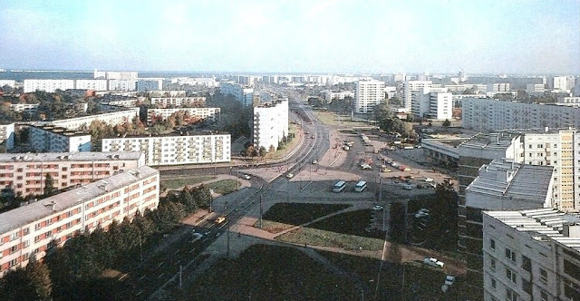1980-е годы. Рига. Пурвциемс. Улица Дзелзавас