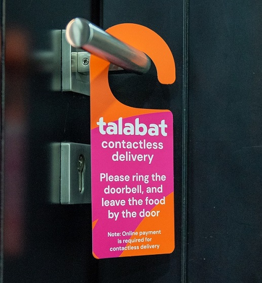 Talabat Contactless and Cashless Food Delivery