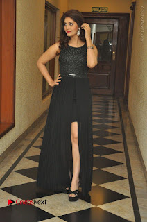 Actress Surabhi Stills in Black Long Dress at turodu Audio Launch  0076.JPG