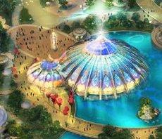Glass Dome Building Concept Art Epic Universe Universal Orlando
