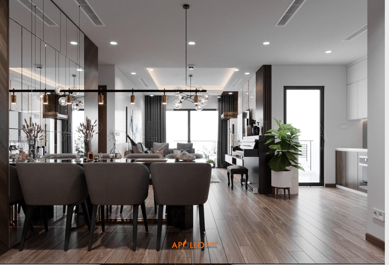 Thiết kế nội thất căn hộ 3 phòng ngủ Hinode City 201 Minh Khai
