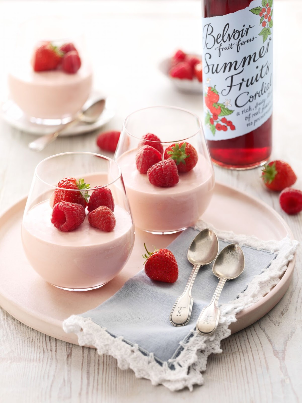 Strawberry And Raspberry Mousse...
