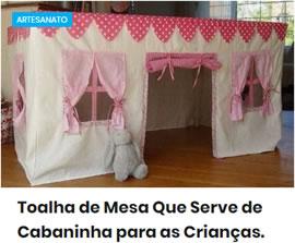 Toalha de Mesa Que Serve de Cabaninha para as Crianças
